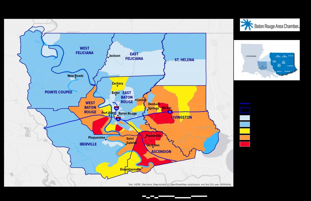 Regional Maps | Baton Rouge Area Chamber (C) on